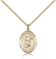 St Stephanie Gold Filled Medal