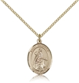 St Isabella Gold Filled Medal