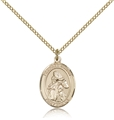 St Isaiah Prophet Gold Filled Medal