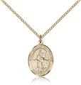 St Isidore the Farmer Gold Filled Medal