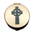 Size 3 Celtic Cross Brass Pyx Holds 20-25 Hosts