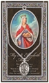 St. Elizabeth of Hungary Pewter Medal on Chain with Prayer