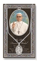 Pope Francis Pewter Medal on Chain with Prayer