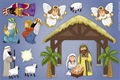 Nativity Magnet Set for kids