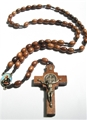 St. Benedict Wood Cord Rosary