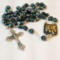 28-inch Dark Green Christmas Rosary