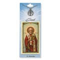 St Nicholas Prayer Card with Pewter Medal