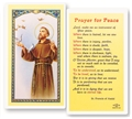 Saint Francis Prayer for Peace Laminated Prayer Card