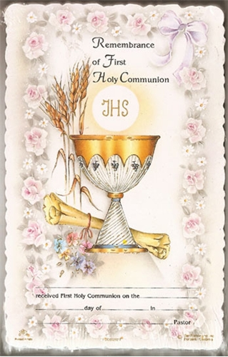 first communion remembrance card discount catholic products