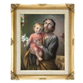 FRAMED ART ST JOSEPH & CHILD 16X20