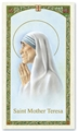 Saint Mother Teresa Laminated Prayer card