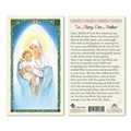 Our Lady of the Snow Laminated Prayer Card