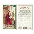 Jesus Knocking For Those Who Live Alone Laminated Prayer Card
