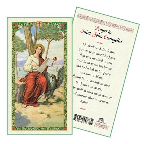 Saint John the Evangelist Laminated Prayer Card