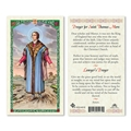 Saint Thomas More Laminated Prayer Card