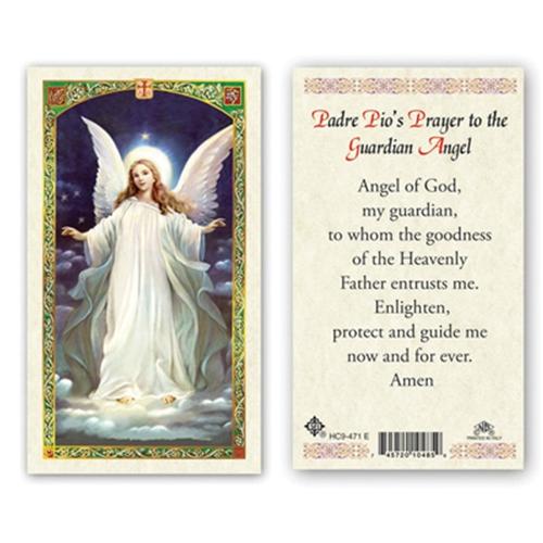 4377d11f8b71d Saint Padre Pio's Prayer to the Guardian Angel Laminated Prayer Card