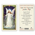 Saint Padre Pio's Prayer to the Guardian Angel Laminated Prayer Card