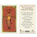The Prayer before the Crucifix at San Damiano Laminated Prayer Card
