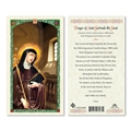 Prayer of St Gertrude the Great Laminated Prayer Card