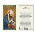 Saint Francis de Sales Laminated Prayer Card