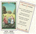 Miracle of Friendship Laminated Prayer Card