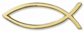 Gold Plated Ichthus Auto Emblem