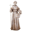 Saint Francis Planter Statue with Solar Light