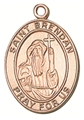 St Brendan Gold-Filled Oval Medal