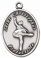 Ballet Girls Sterling Silver Sports Medal