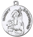 St Brendan Pewter Medal with Chain