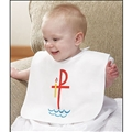 Baptismal Garment Bib With Velcro, Pack of 6