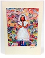 Contemporary 1st Communion Greeting Card by Jen Norton ~ Girl