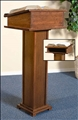 Walnut Lectern with Shelf