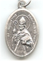 St. Augustine Inexpensive Oxidized Medal