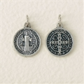 St. Benedict Jubilee Oxidized Medal, 1/2 in Round
