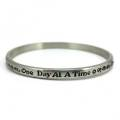 One Day at a Time Pewter Bracelet