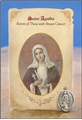 St Agatha (Breast Cancer) Healing Holy Card with Medal
