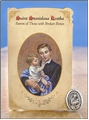 St Stanislaus Kostka (Broken Bones) Healing Holy Card with Medal