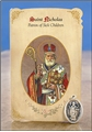 St Nicholas (Sick Children) Healing Holy Card with Medal