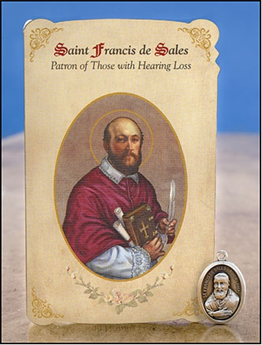 St Francis De Sales Prayer Card Patron Saint Of Hearing