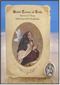 St Teresa of Avila (Headaches) Healing Holy Card with Medal