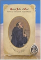 St John of God (Heart Disease) Healing Holy Card with Medal