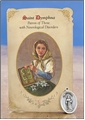 St Dymphna (Neurological Disorders) Healing Holy Card with Medal