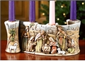 Nativity Scroll Advent Candle Holder