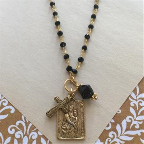 medium img n scapular pendants and jesus image necklace size designs mary k