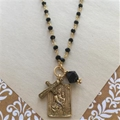 Vintage Inspired Scapular Necklace, Molly