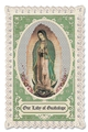 Green Our Lady of Guadalupe Prayer Card