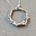 Crown of Thorns Silver Necklace