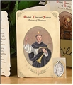 Saint Vincent Ferrer (Plumbers) Holy Card with Medal