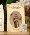 Saint Francis of Assisi (Retail Sales) Holy Card with Medal